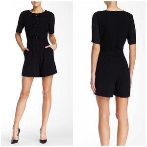 CeCe by Cynthia Steffe Sleeve Bow Front Romper